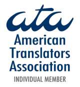 American Translators Association certified Russian to English translator logo