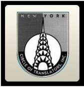 New York Circle of Translators logo for a Russian to English translator