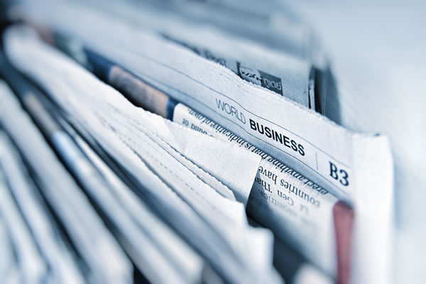 Business newspapers representing Russian to English business translations